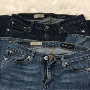 2 pr of AG Angelina petite jeans in a+ condition.